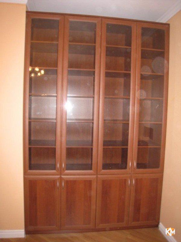 Библиотека со стеклом, цвет французский орех, профиль agt, л.