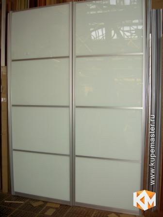"""Дверь купе """"стекло и профиль """"серебро"""" - мебель на заказ от ."""